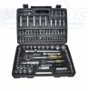 Galvučių, įrankių ir raktų rinkinys (108 vnt.), pagamintas iš stipraus chrome-vanadium plieno, minkštoje ir funkcionalioje dėžutėje.