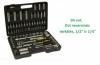 Galvučių, įrankių ir raktų rinkinys (94 vnt.), pagamintas iš stipraus chrome-vanadium plieno, minkštoje ir funkcionalioje dėžutėje.